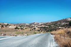 Cyprian wild rocky landscape Stock Photo