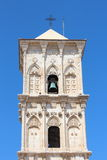 Cypriot Church Bell tower against blue sky Royalty Free Stock Photography