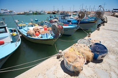 Cypriot fishing boats Royalty Free Stock Images