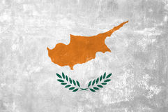 Cypriot Flag. Cyprus - Cypriot Flag on Old Grunge Texture Background royalty free stock photo