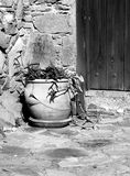 Cypriot traditional yard Stock Photo