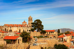 Cypriot village in the mountains. Royalty Free Stock Photo