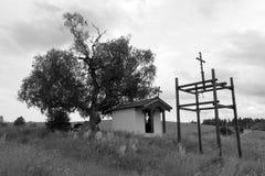 Cypriotiskt kapell för St i by av Plana Royaltyfria Foton