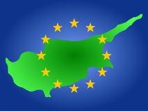 cyprus översikt royaltyfri illustrationer