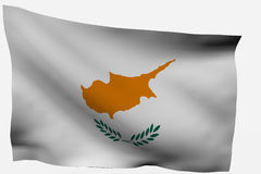 Cyprus 3d flag. Isolated on white background Stock Photography