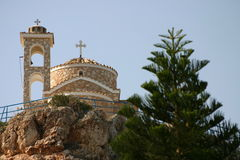 Cyprus. Nice Church up the hill Royalty Free Stock Images