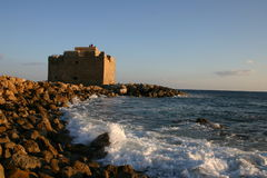 Cyprus. Pafos Fort Stock Images