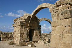 Cyprus. Ruins of Pafos Royalty Free Stock Photography