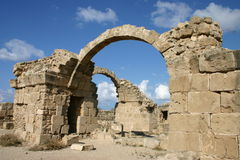 Cyprus. Ruins of Pafos Royalty Free Stock Images