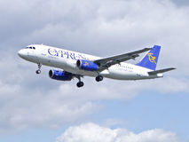 Cyprus Airways aircraft Royalty Free Stock Images