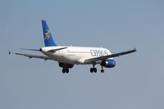 Cyprus Airways A320 royalty free stock photography