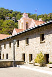 CYPRUS -AUGUST, 27, 2013: The Holy, Royal and Stavropegic Monastery of Kykkos. The Holy Monastery was founded around the end of th Stock Photo