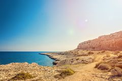 Cyprus Ayia Napa, Cape Greco peninsula, national forest park Stock Images
