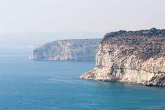 Cyprus beach Cliifs Royalty Free Stock Photo