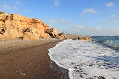 Cyprus beach Royalty Free Stock Image