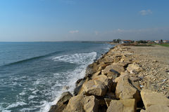 Cyprus beach in winter. Near Perivolia Stock Photography