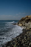 Cyprus beach in winter. Near Perivolia Stock Photos