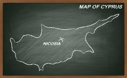 Cyprus on blackboard Stock Image