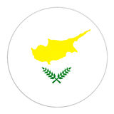 Cyprus  button with flag. Abstract illustration: button with flag from Cyprus  country Royalty Free Stock Images