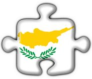 Cyprus button flag puzzle shape Royalty Free Stock Images