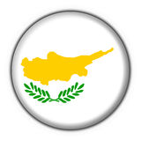 Cyprus button flag round shape stock illustration