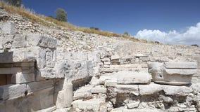 Cyprus - Amathus archaeological site. Cyprus - Camera pan across Amathus archaeological site stock video footage