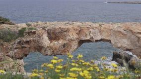 Cyprus, Cape Greco. The Sea Bridge stock video footage