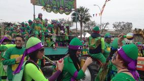 Cyprus carnival stock footage