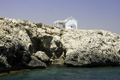 Cyprus Chapel. A chapel on the Cyprus rocky coastline Stock Photography