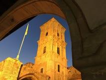 Cyprus church at night Royalty Free Stock Photo