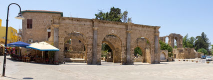 Cyprus. The city of Famagusta, built by the Venetians in the XIV-XV centuries. The photo was taken in the city of Famagusta in Cyprus. Panorama pieced together Stock Photography