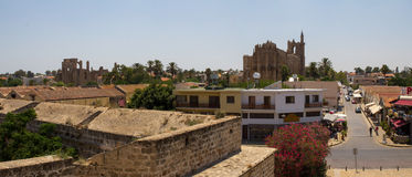 Cyprus. The city of Famagusta, built by the Venetians in the XIV-XV centuries. The photo was taken in the city of Famagusta in Cyprus. Panorama pieced together Royalty Free Stock Photography