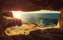 Cyprus coast. Beautiful sea shore in Cyprus Stock Image