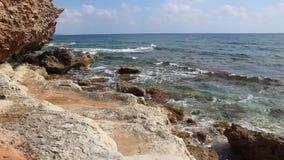 Cyprus coast stock video