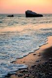 Cyprus coast before sunset Stock Images