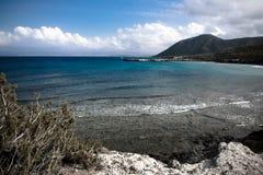 Cyprus coast view Royalty Free Stock Photos