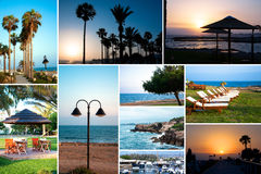 Cyprus Collage Stock Images