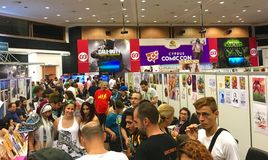 Cyprus Comic Con 2016. Cyprus Comic Con is an annual, multi-genre convention full of exhilarating pop culture activities, including live performances, cosplay stock photo
