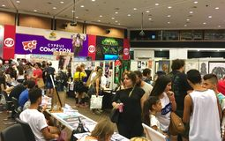 Cyprus Comic Con 2016. Cyprus Comic Con is an annual, multi-genre convention full of exhilarating pop culture activities, including live performances, cosplay royalty free stock image