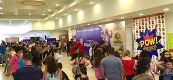 Cyprus Comic Con 2016. Cyprus Comic Con is an annual, multi-genre convention full of exhilarating pop culture activities, including live performances, cosplay royalty free stock photography