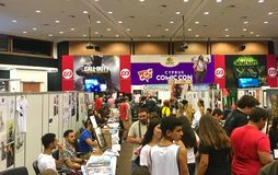 Cyprus Comic Con 2016. Cyprus Comic Con is an annual, multi-genre convention full of exhilarating pop culture activities, including live performances, cosplay stock image