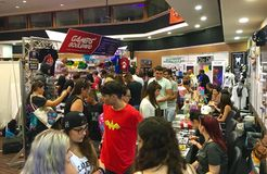 Cyprus Comic Con 2016. Cyprus Comic Con is an annual, multi-genre convention full of exhilarating pop culture activities, including live performances, cosplay royalty free stock photos