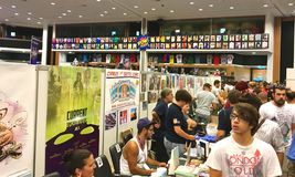 Cyprus Comic Con 2016. Cyprus Comic Con is an annual, multi-genre convention full of exhilarating pop culture activities, including live performances, cosplay stock images