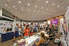 Cyprus Comic Con 2015. Cyprus Comic Con is a non-profit organisation that celebrates comic book influenced art and culture in Cyprus. With over 3000 guests in Royalty Free Stock Photography