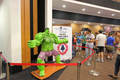 Cyprus Comic Con 2015. Cyprus Comic Con is a non-profit organisation that celebrates comic book influenced art and culture in Cyprus. With over 3000 guests in Stock Images