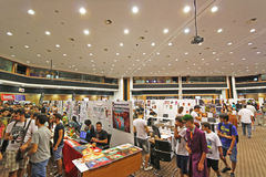 Cyprus Comic Con 2015. Cyprus Comic Con is a non-profit organisation that celebrates comic book influenced art and culture in Cyprus. With over 3000 guests in Stock Image