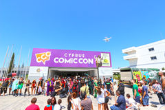 Cyprus Comic Con 2015. Cyprus Comic Con is a non-profit organisation that celebrates comic book influenced art and culture in Cyprus. With over 3000 guests in Royalty Free Stock Photos