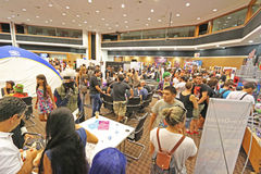 Cyprus Comic Con 2015. Cyprus Comic Con is a non-profit organisation that celebrates comic book influenced art and culture in Cyprus. With over 3000 guests in Royalty Free Stock Photo