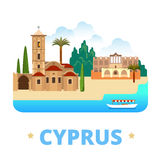 Cyprus country design template Flat cartoon style Royalty Free Stock Images