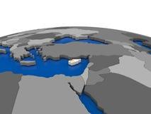 Cyprus on 3D globe Stock Photography